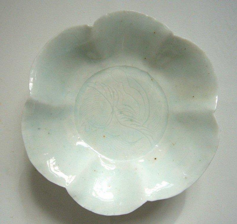 Lobed Song Qingbai Dish