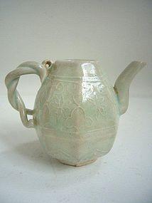 Yuan Dynasty Qingbai Wine Pot
