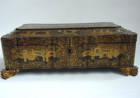 Cantonese Export Lacquer Game Box