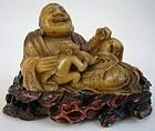 Late Qing Soapstone Budai