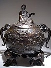 Large Bronze Japanese Meiji Period Censer