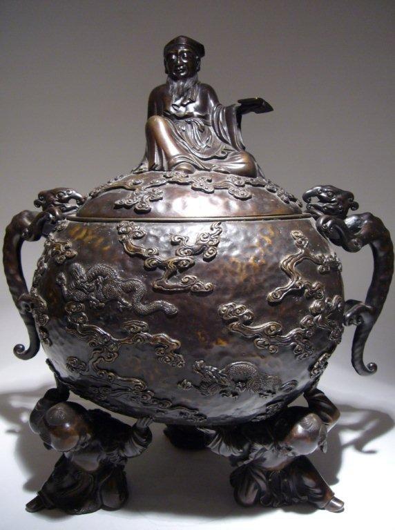 Large Bronze Japanese Meiji Period Censer