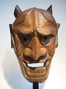 Antique Japanese Oni Mask