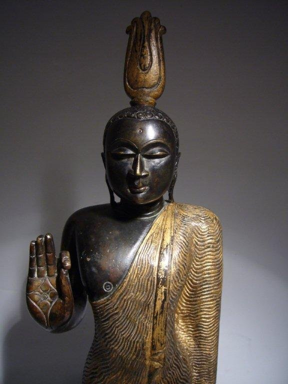 Gilt Bronze Buddha from Sri Lanka