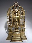 Rare and Large Indian Jain Bronze Shrine
