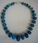 Blue Colored Agate Necklace