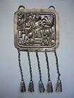 Chinese Late Qing Silver Pendant