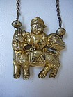 Chinese Late Qing Gilt Silver Necklace