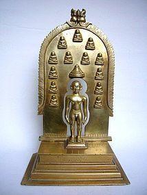 Indian Bronze Jain Shrine