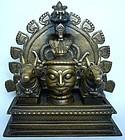 Indian Bronze Khandoba Shrine 17th/18th Century