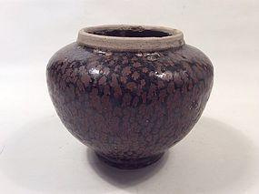 Song Cizhou Jar with Oilspot Glaze
