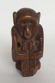 Chinese Hardwood Toggle 'Monkey' 19th Century