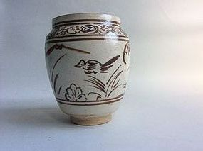 Ming Dynasty Painted Cizhou Jarlet