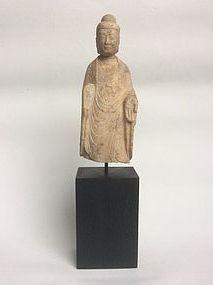Tang Dynasty Marble Buddha Fragment