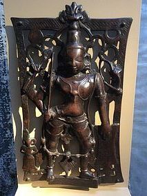 Rare Indian Bronze Sculpture of Virabhadra