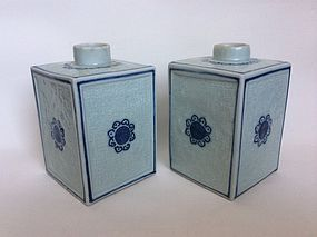 Chinese Qianlong Porcelain Tea Caddies