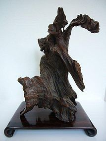 Qing Dynasty Rootwood Scholar's Rock 19th Century