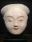 Han Dynasty Pottery Head (206BC-220AD)