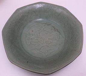 Ming Dynasty Octagonal Longquan Dish