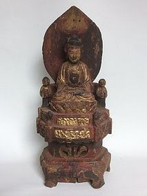 Chinese Wooden Sculpture of Guanyin