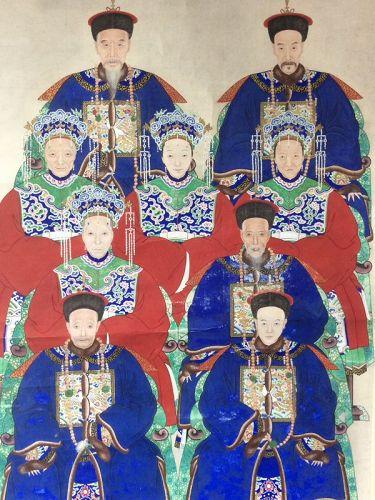 Chinese Ancestor Painting 19th Century