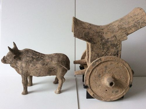 Pottery Ox and Cart Tang Dynasty (618-907) with TL-report