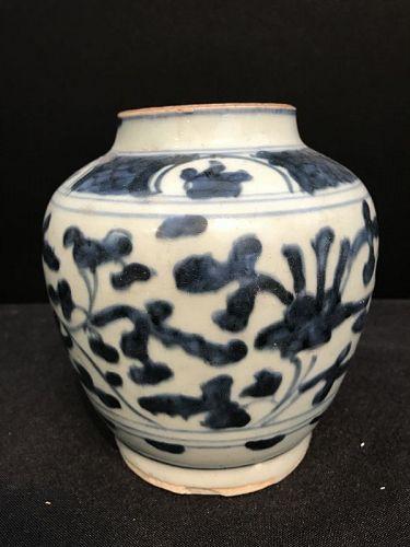 Late Ming B&W jar