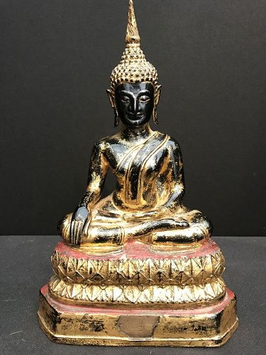 Thai Lacquered Bronze Buddha