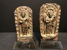 Two Nepalese Copper Repousse Plaques 17th/18th Century