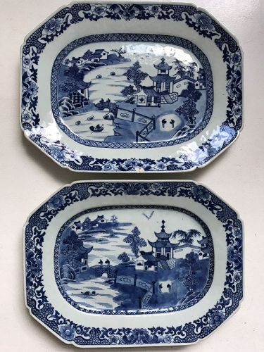 Pair of Chinese Export Qianlong Serving Dishes