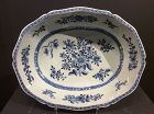 Chinese Export  B&W Serving Dish Qianlong