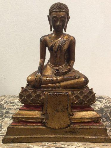 Thai Gilded  Bronze Buddha