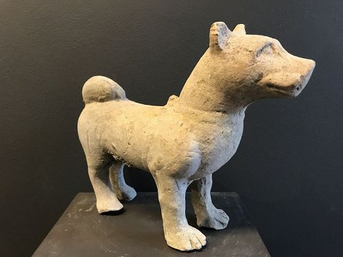 Han Dynasty Pottery Dog TL-tested