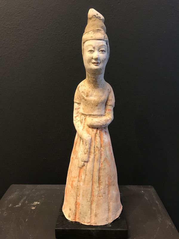 Tang Dynasty White Pottery Lady