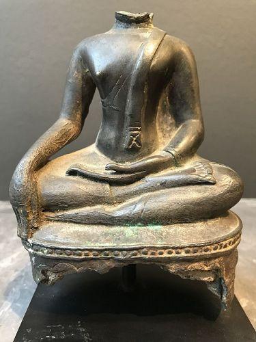 Bronze Buddha Torso Thailand 16th Century