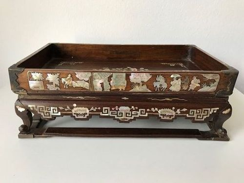 Chinese Hardwood Scholar's Tray 19th Century