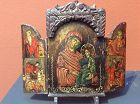 Greek Orthodox Triptych Icon 19th century