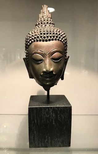 Thai Bronze Buddha Head 17th/18th Century