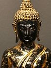 Lacquered Bronze Thai Buddha Ca. 1800