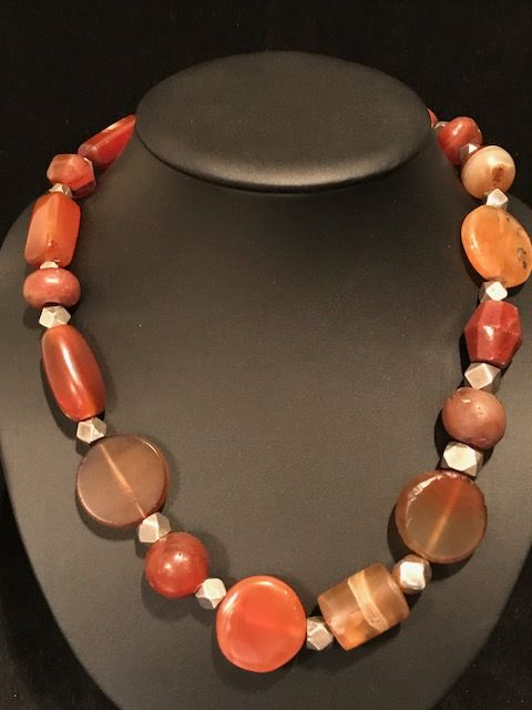 Necklace of Carnelian Trade Beads