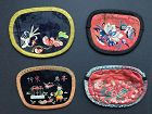 4 Chinese Embroidered Silk Purses Late Qing