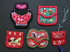 5 Embroidered Silk Purses - China - Earlyto mid 20th Century
