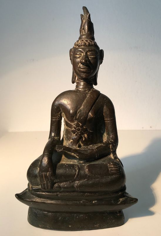 Bronze Buddha Laos 17th Century