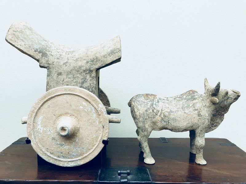 Pottery Ox and Carriage Tang Dynasty with TL-test