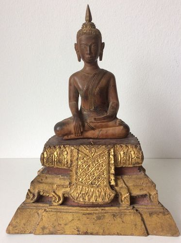 Thai Ayutthaya Sandalwood Buddha 18th Century