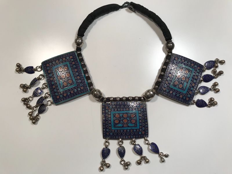 Pakistan Multan Silver Necklace Mid 20th Century