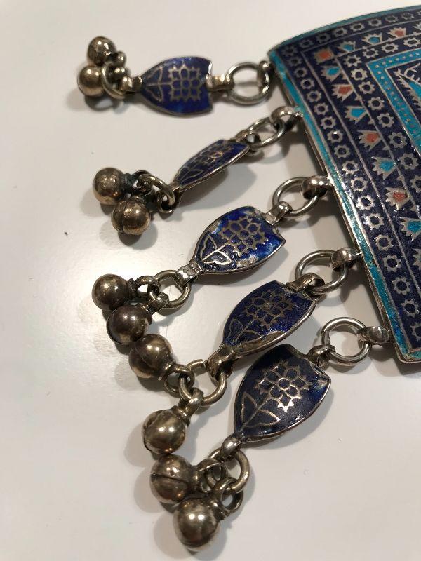 Pakistan Multan Silver Necklace Mid 20th Century