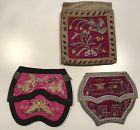 3 Chinese Embroidered Silk Purses Late Qing/Republic