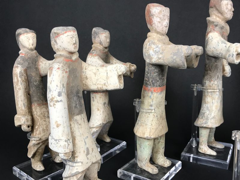 Group of 11 warriors Han Dynasty (206BC-220AD). TL-tested