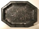 Chinese Silver Tray Qing Dynasty